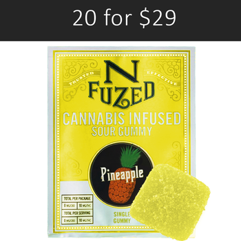 PINEAPPLE  SINGLE PACK 10 MG GUMMY BY NFuzed