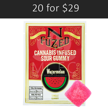 WATERMELON SINGLE PACK 10 MG GUMMY BY NFuzed