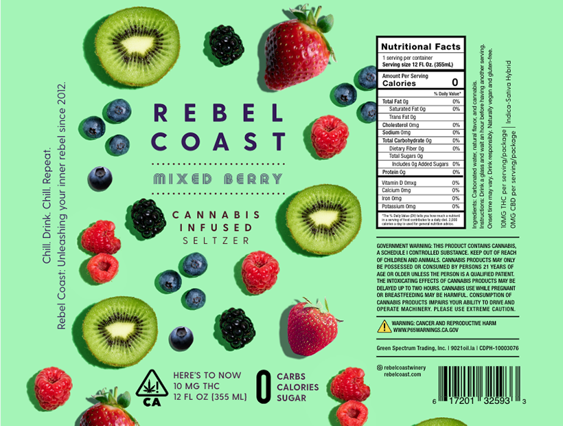 MIXED BERRY SELTZER BY REBEL COAST